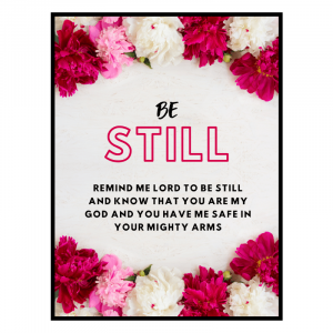 Christian Posters | Be Still
