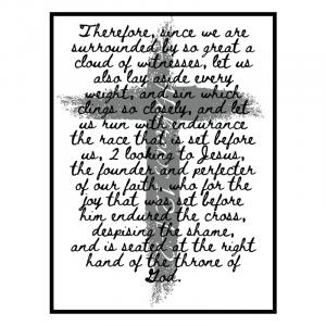 Christian Poster : Hebrews 12