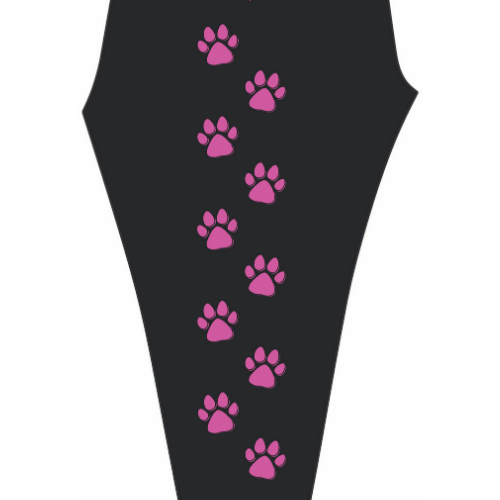 Empowerment Pants by Mellymoo | Pink Paw Print Leggings